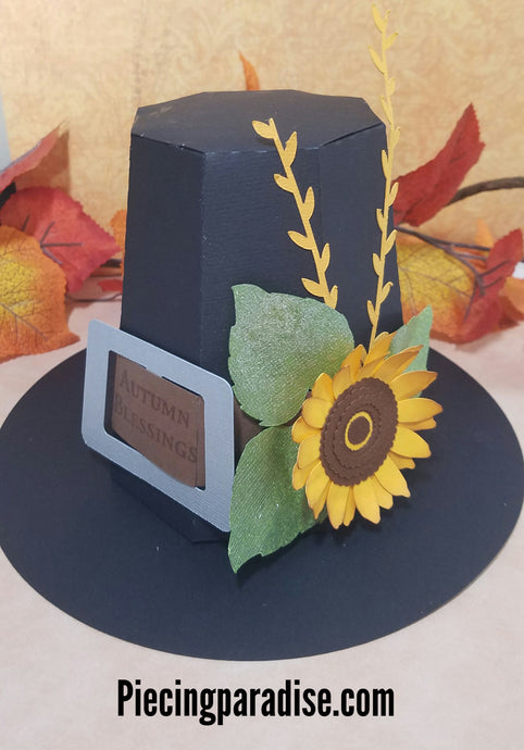 Pilgrim Hat treat box or home decor