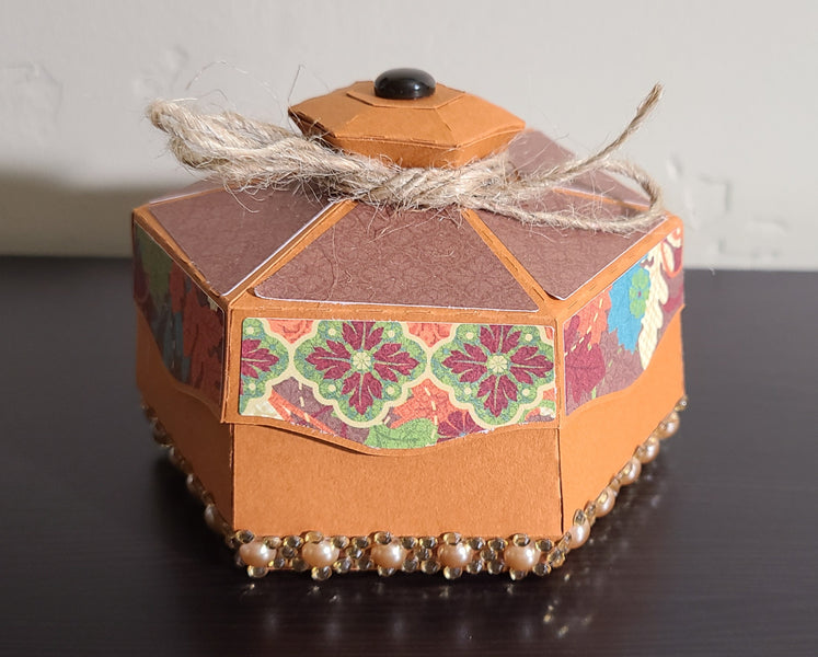Fall Hexagon Box 3D Craft