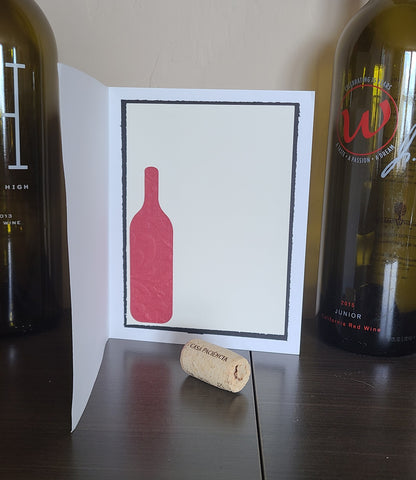 Card making idea for wine lovers