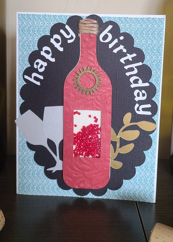 Shaker card ideas wine bottle