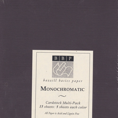 Bazzill Basics Raisin Trio Monochromatic Cardstock Pack