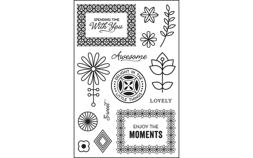 BasicGrey Prism Collection Hero Arts Clear Stamp Spending Time With You