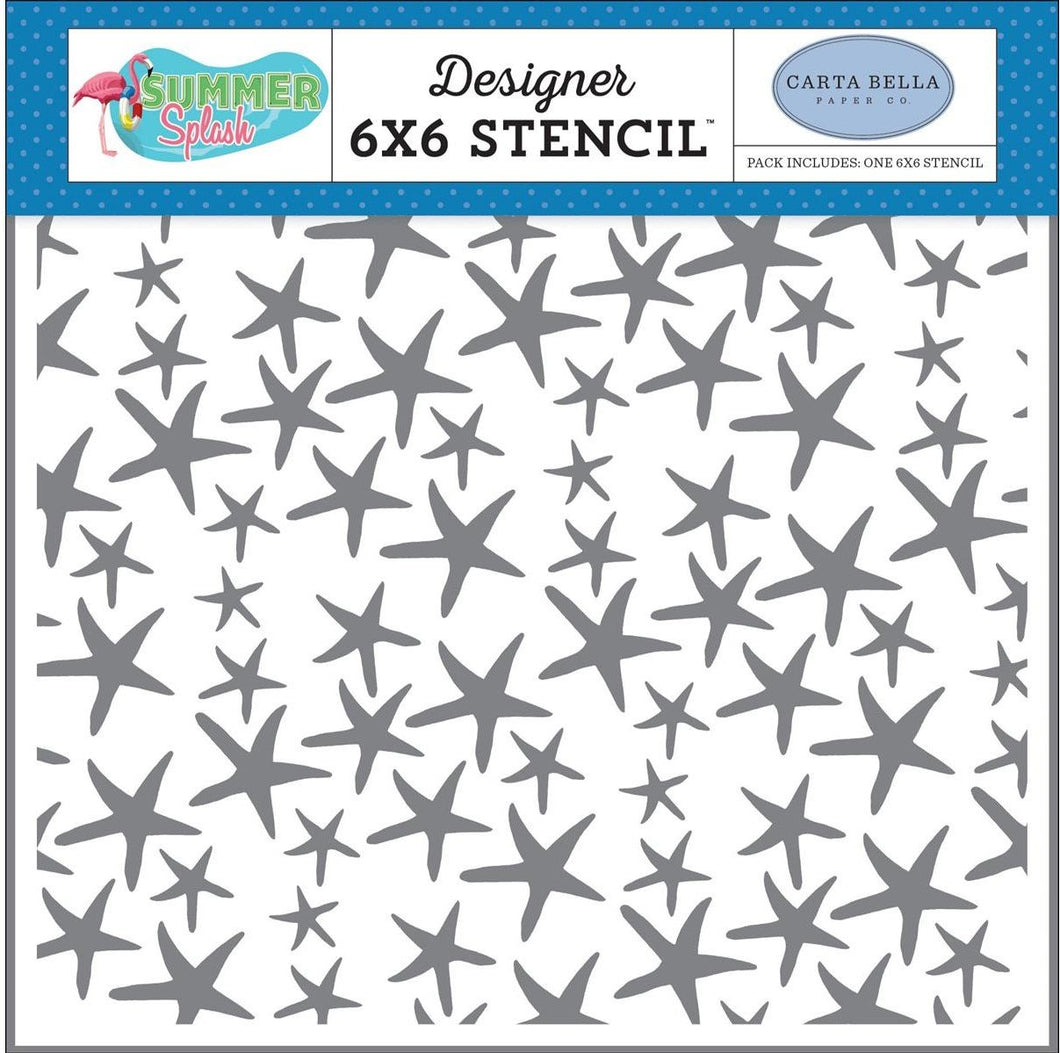 Carta Bella Collection Summer Splash Stencil Starfish