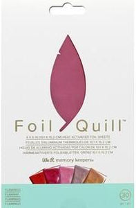 "We R Memory Collection Foil Quill Foil Sheet 4x6"" Flamingo"