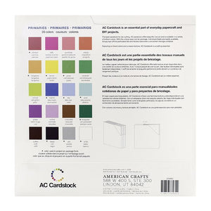 American Crafts Variety Cardstock Pack 12X12 60 Pkg - Primary