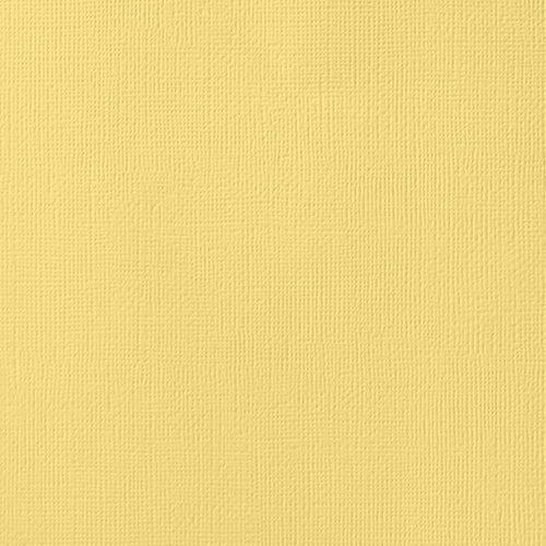 12x12 American Crafts Cardstock Textured Banana
