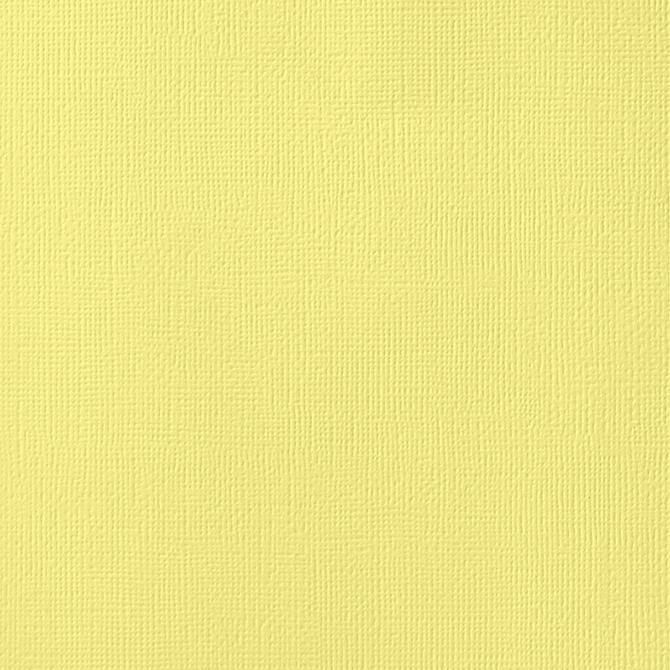 12x12 American Crafts Cardstock Textured Canary