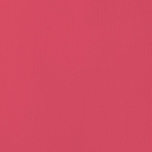 12x12 American Crafts Cardstock Textured Cherry