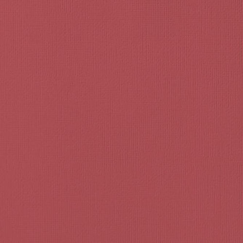 12x12 American Crafts Cardstock Textured Cranberry