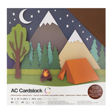"Load image into Gallery viewer, American Crafts Variety Cardstock Pack 12""X12"" 60/Pkg - Earthtones"