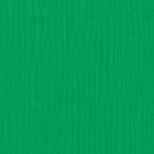 12x12 American Crafts Cardstock Textured Emerald