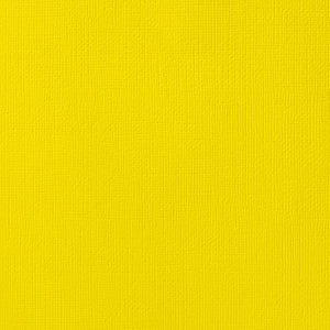 12x12 American Crafts Cardstock Textured Lemon
