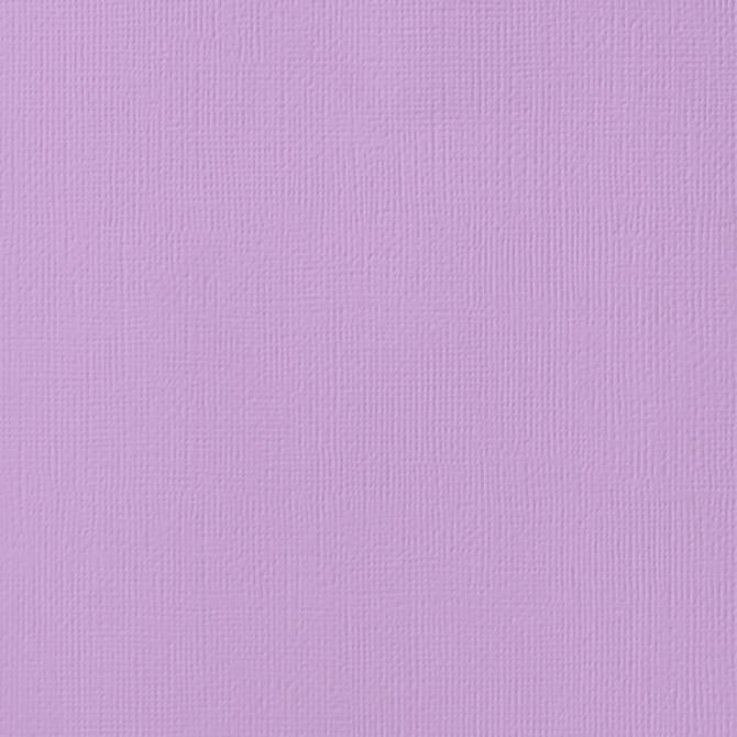 12x12 American Crafts Cardstock Textured Lilac