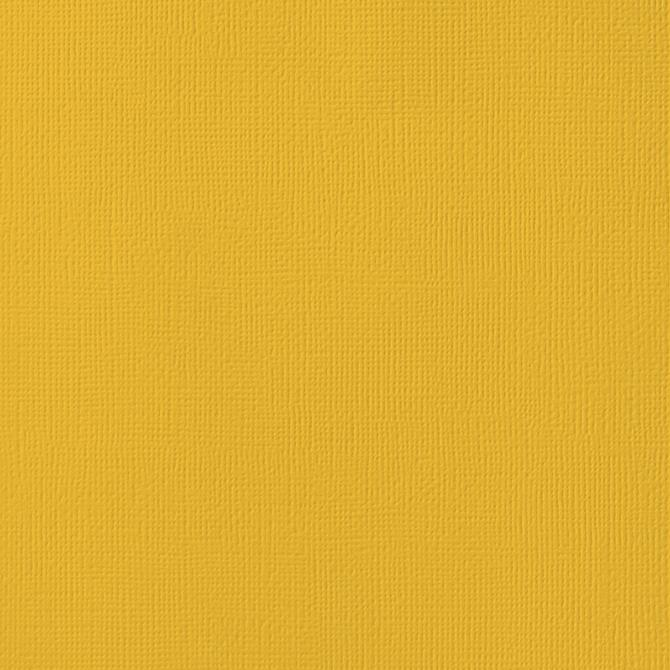 12x12 American Crafts Cardstock Textured Mustard