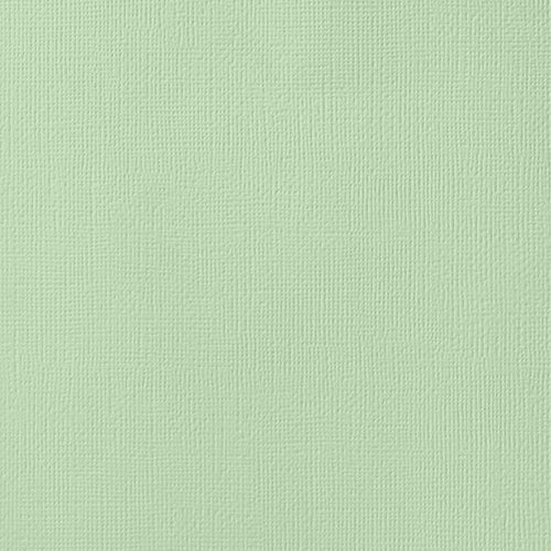 12x12 American Crafts Cardstock Textured Peapod