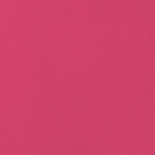 12x12 American Crafts Cardstock Textured Rouge