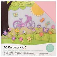 "Load image into Gallery viewer, American Crafts Variety Cardstock Pack 12""X12"" 60/Pkg - Spring"