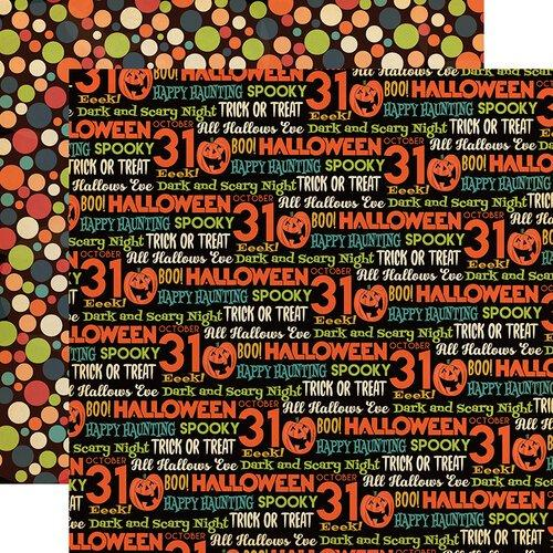 Carta Bella paper Happy Halloween 12x12 Pattern Paper All Hallows Eve