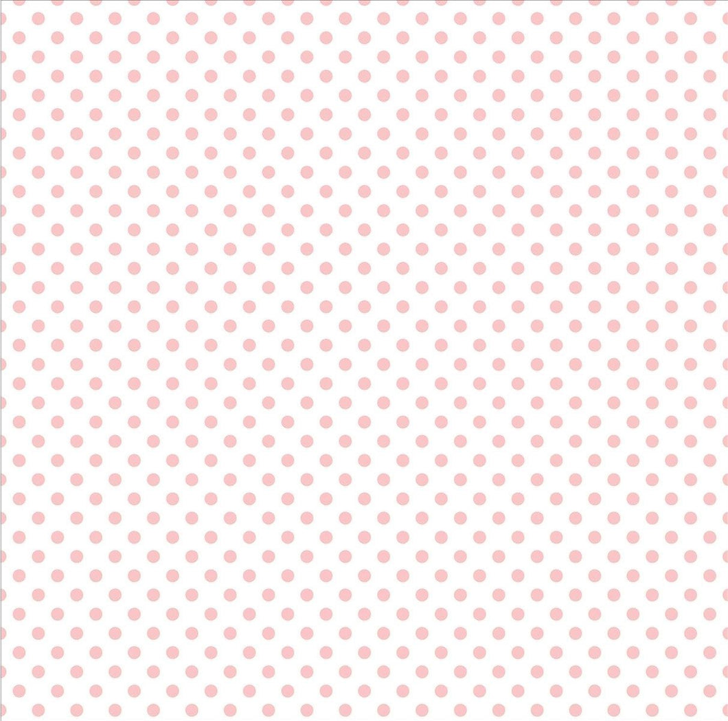 Echo Park Collection Dots & Stripes Pastel Vellum 12x12 Blush Bunny