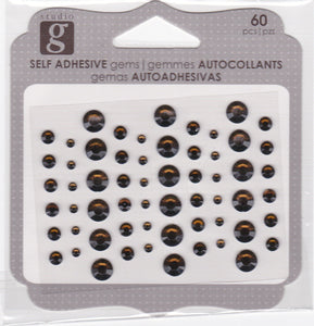 Studio G Adhesive Gems Brown
