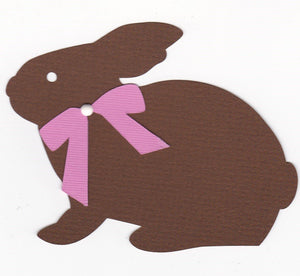 Premade Paper Piecing Cricut Chocolate Bunny