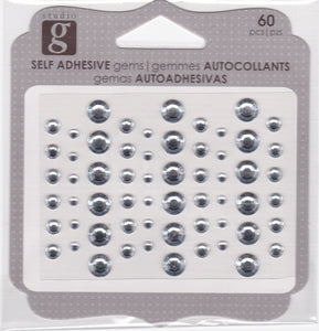 Studio G Adhesive Gems Clear