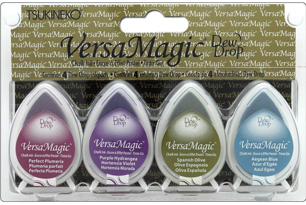 Tsukineko VersaMagic Dew Drop Pigment Chalk Ink Pad Set Jewel