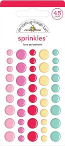 Doodlebug Sprinkles Enamel Dots Love Assortment