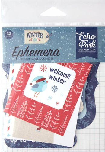 Echo Park Collection Celebrate Winter Ephemera