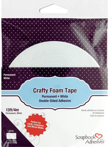 Scrapbook Adhesives By 3L 3D Foam Crafty Tape White 13ft