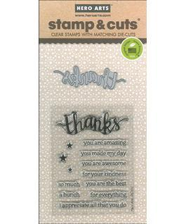 Hero Arts Stamp & Cuts Thanks