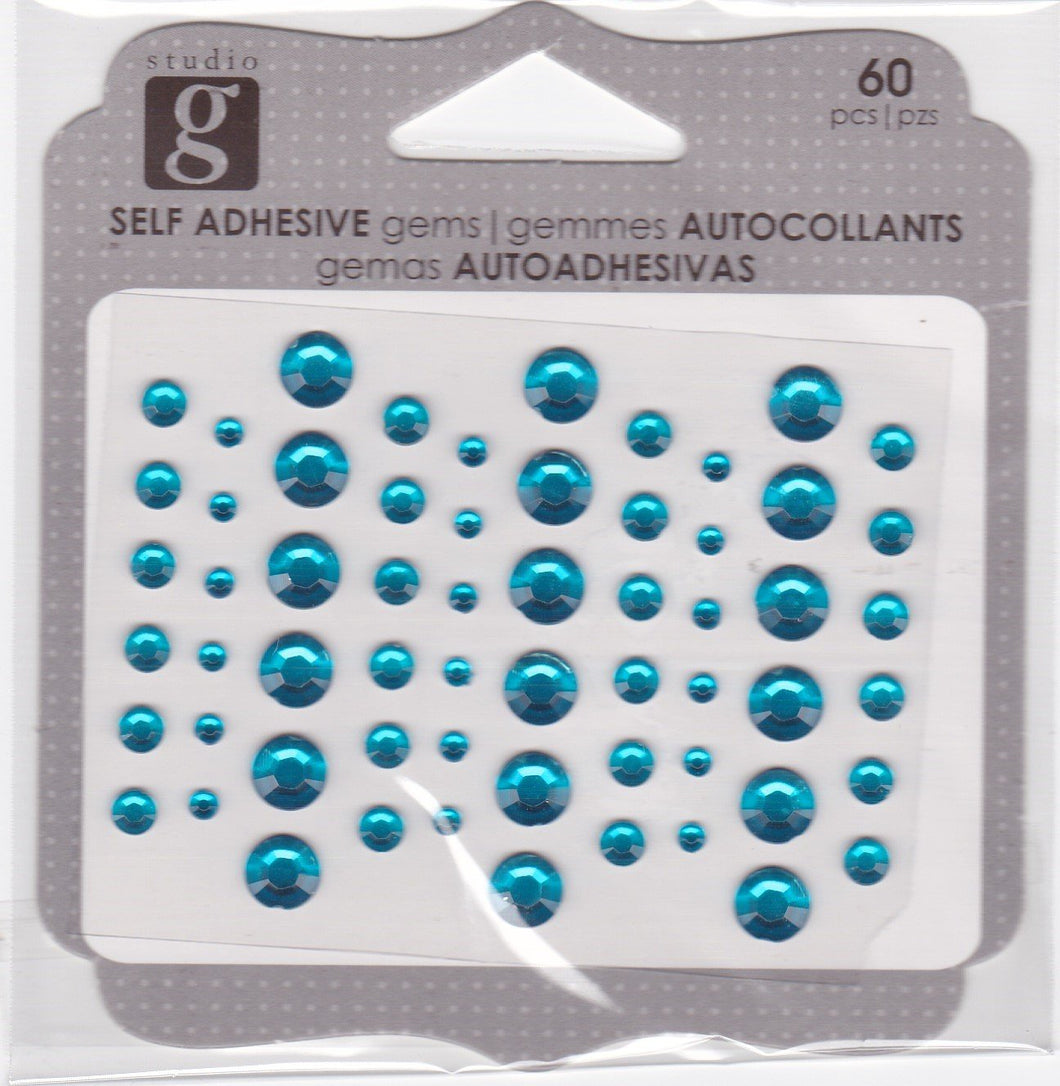 Studio G Adhesive Gems Light Blue