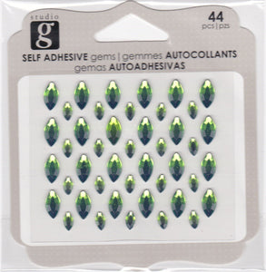 Studio G Adhesive Cats Eye Gems Lime