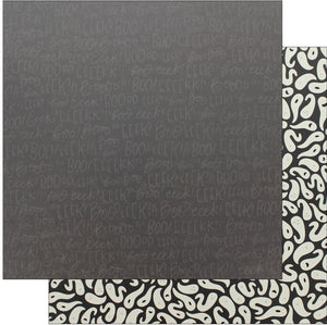 "Pebbles Collection Midnight Haunting Paper 12x12"" EEK"
