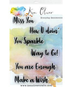 Wecraft Ken Oliver Clear Stamp Everyday Sentiments