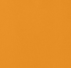 12x12 American Crafts Cardstock Textured Butterscotch