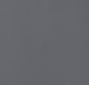 12x12 American Crafts Cardstock Textured Charcoal