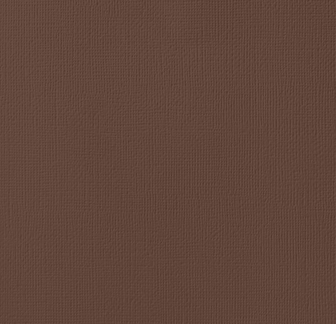 12x12 American Crafts Cardstock Textured Chestnut