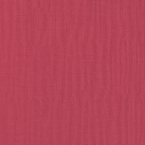 12x12 American Crafts Cardstock Textured Crimson - 25 Pack