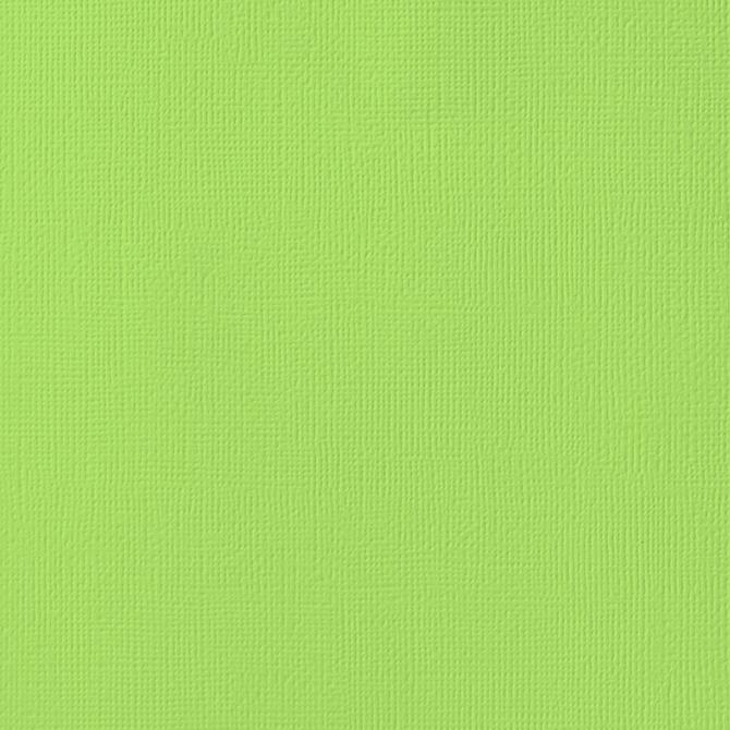 12x12 American Crafts Cardstock Textured Key Lime