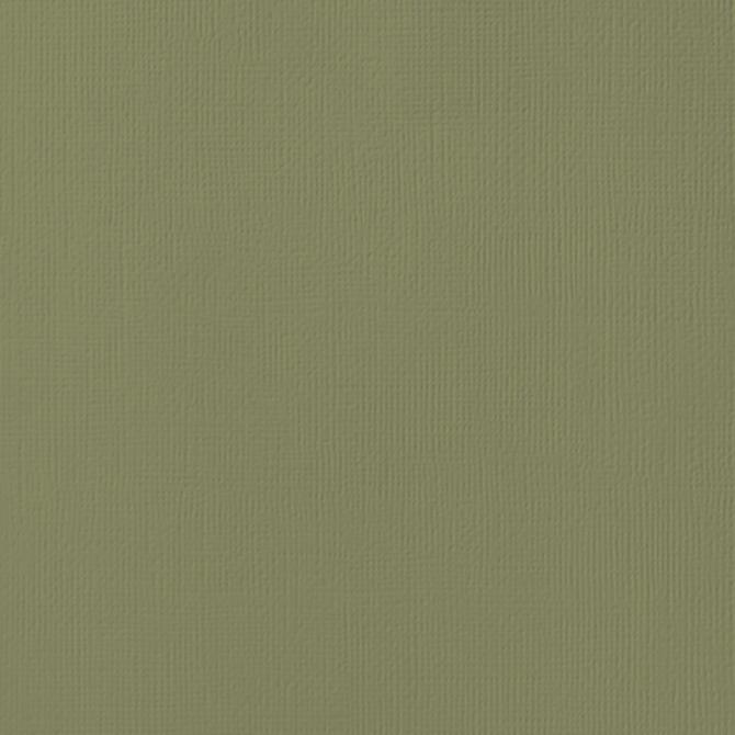 12x12 American Crafts Cardstock Textured Olive