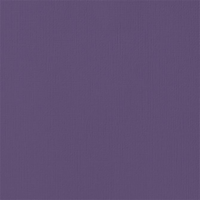 12x12 American Crafts Cardstock Textured Plum