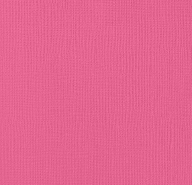 12x12 American Crafts Cardstock Textured Raspberry