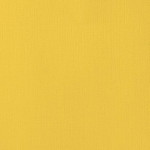 12x12 American Crafts Cardstock Textured Sunflower