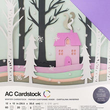 "Load image into Gallery viewer, American Crafts Variety Cardstock Pack 12""X12"" 60/Pkg - Winter"