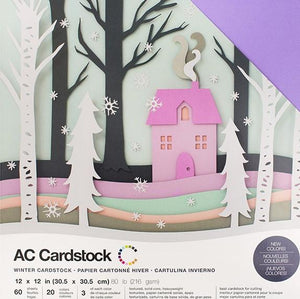 "American Crafts Variety Cardstock Pack 12""X12"" 60/Pkg - Winter"