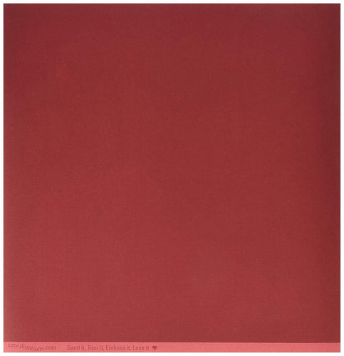 12x12 Core'dinations Cardstock Textured Scarlet