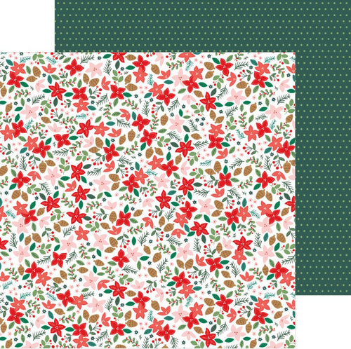 Pebbles Christmas Paper 12x12 Deck the Halls