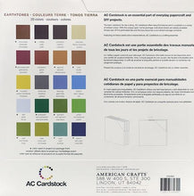 Load image into Gallery viewer, American Crafts Variety Cardstock Pack 12X12 60 Pkg - Earthtones