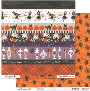 "Echo Park Collection Bewitched Paper 12x12"" Border Strips"